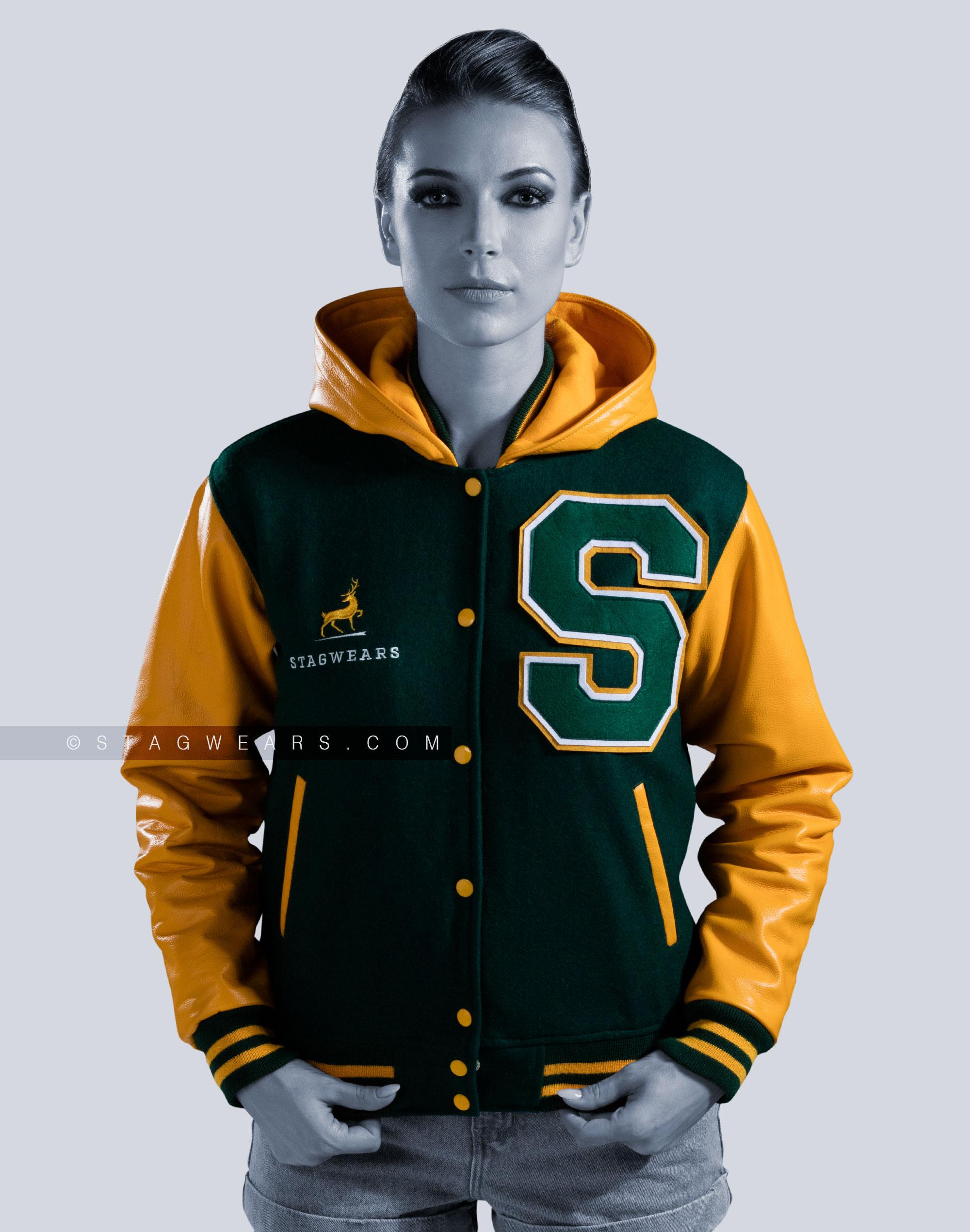 Custom Hooded Letterman Jacket | Letterman Jackets for Women