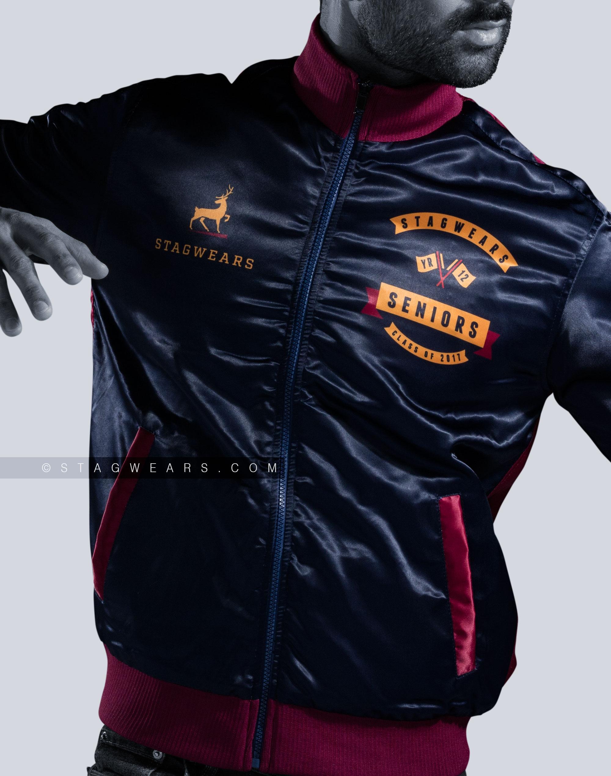 096629630deb Custom Track Jackets Cotton Fleece Reversible Team Jackets