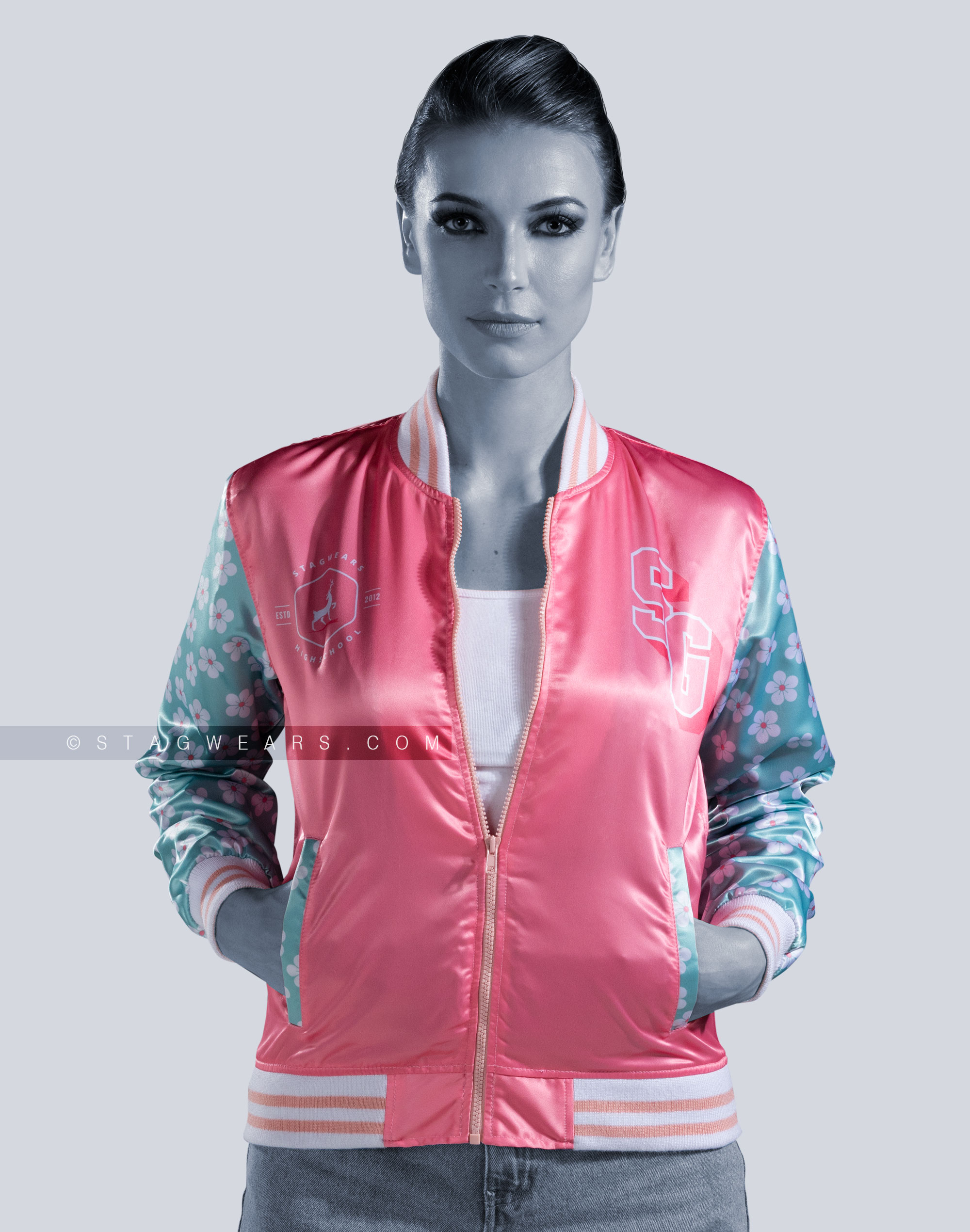 Sublimation Custom Satin Jackets Printed Satin Jackets