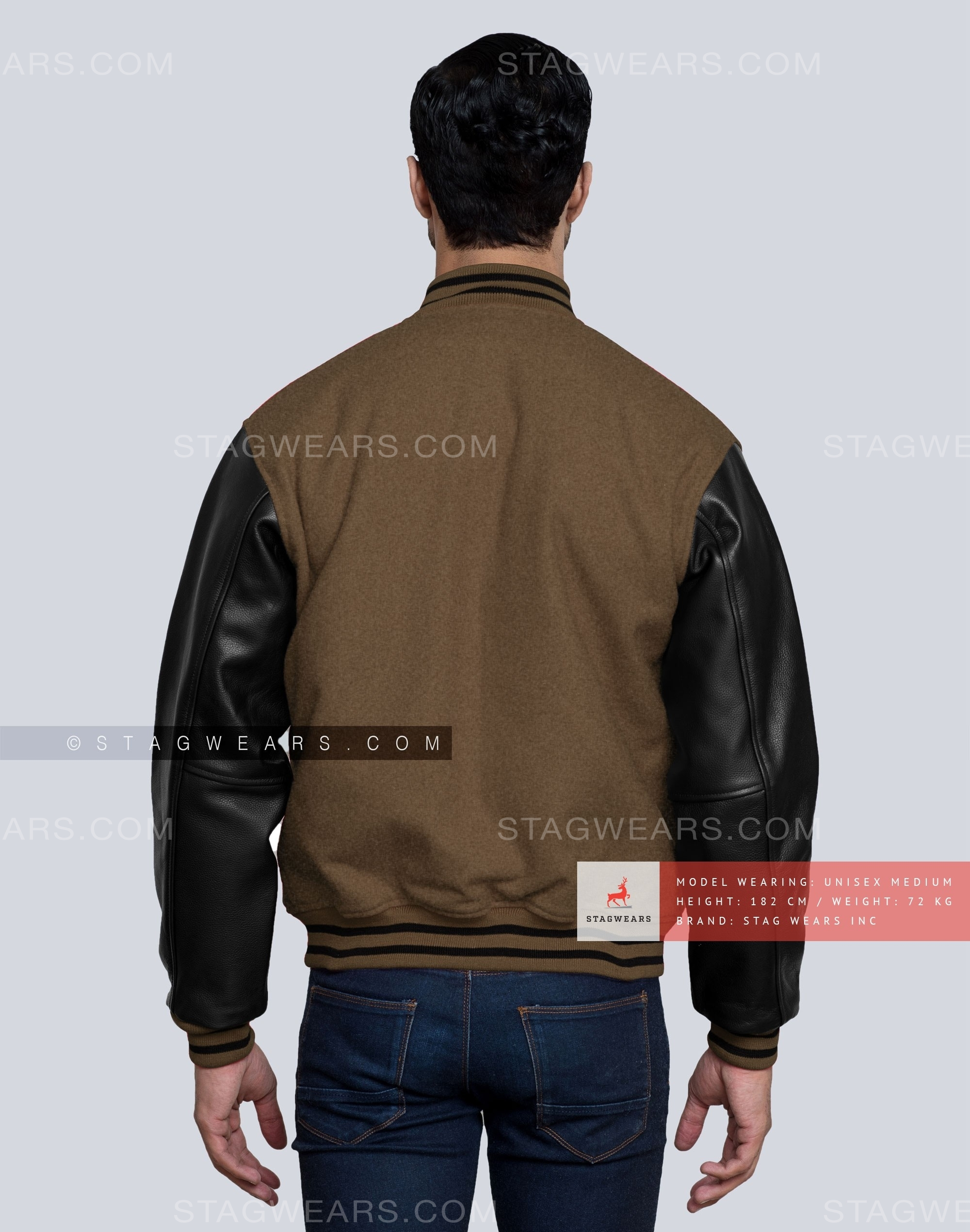 c093582a2 Brown Custom Letterman Jacket for the Modern and Trending Man!