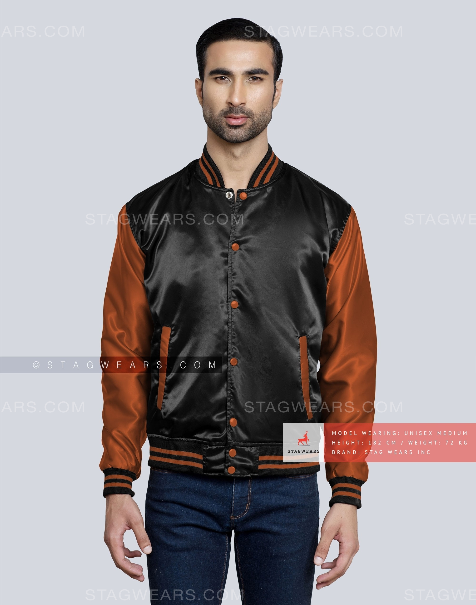 face0585d Custom Satin Varsity Jacket (Black)  Go Grab This Stunning Piece Now!