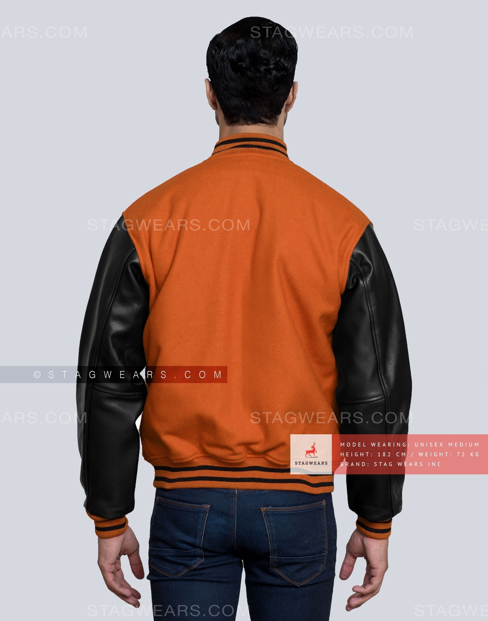 7a17c67e6b5 College Varsity Jacket in Orange and Black - Add It to Your Wardrobe ...